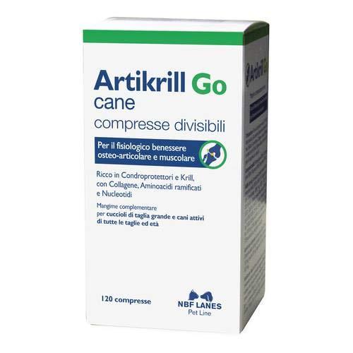 Artikrill Go Cane 120 Compresse - Supporto della struttura Articolare Cane Qualsiasi età e Taglia