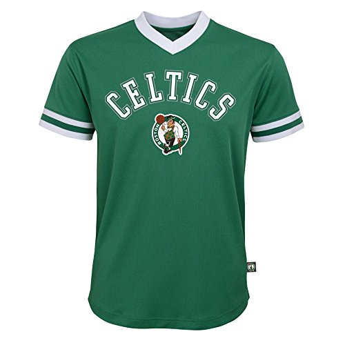 NBA Youth Boys Boston Celtics Short Sleeve Player Mesh Fashion Top, Kelly Green, Youth Medium(10-12)