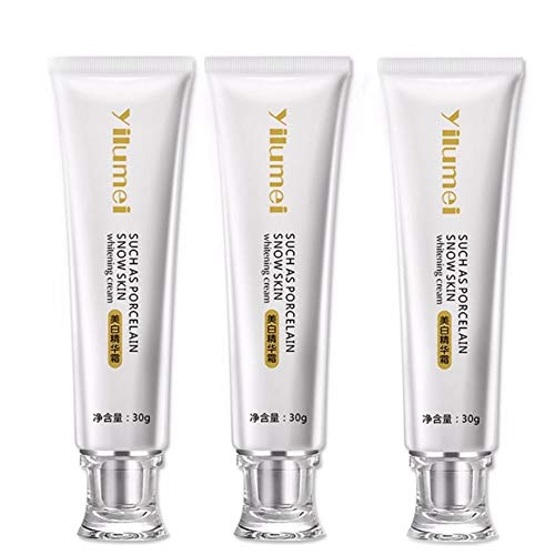 Mzthkly La Lotion crème blanchissante, Agent blanchissant pour Les Jambes et Les Genoux, Peut être utilisée sur Le Visage et Le Corps pour Aider à raffermir et hydrater. (3 pièces)