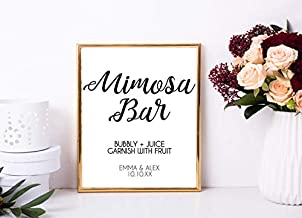 Les Connie Mimosa Bar Wedding Sign Printable Custom Wedding Mimosa Bar Sign Decor Sign Wedding Mimosa Sign Bridal Shower Mimosa Sign