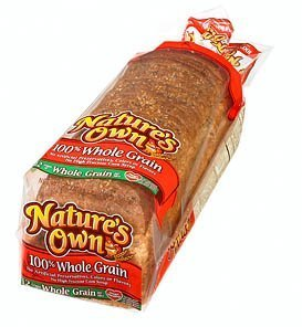 NATURES OWN WHOLE GRAIN BREAD 100% PER LOAF 20 OZ by NATURES OWN At The Neighborhood Corner Store