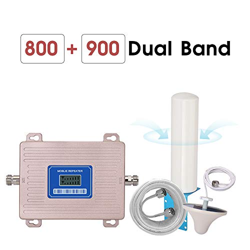 Cellulaire versterker, GSM Repeater 2g 3g 4G LTE-800 GSM 900 MHz Dual Band 4G Signal Booster B8 B20 LCD-scherm Omni Antenna