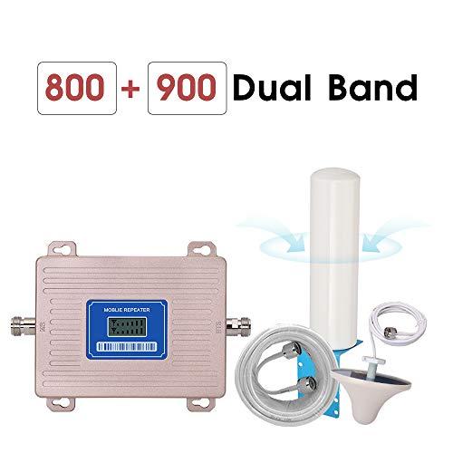 Cellular Verstärker, GSM Repeater 2g 3g 4g LTE 800 GSM 900 MHz Dual Band 4G Signal Booster B8 B20 LCD Display Omni Antenne,Cdma800mhz
