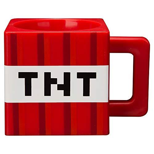 JINX Minecraft TNT Block Square Plastic Mug, Red, 9.8 ounces