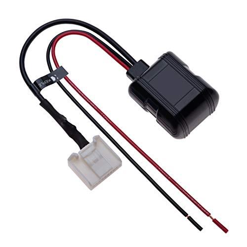 20-pins auto bluetoothmodule muziek draadloze adapter stereo AUX audiokabel compatibel met Toyota Runner, Avalon, Camry, Cruiser, Prius, Sequoia, Solara, Tacoma, Tundra, Yaris, Venza | 12V