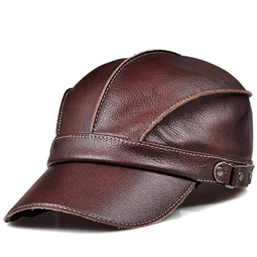 RangYR Heren en vrouwen baseball cap echt lederen cap cowboy hoed mode cap