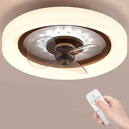 Ventilador De Techo Con Iluminación LED Ventilador Invisible LED Luz De Luz Luz Ajustable Ajustable Ventilador Techo Lámpara De Techo Para Vivero Sala De Estar Dormitorio