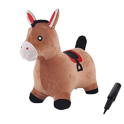 LHZMD Unicornio Saltador Hinchable Caballo Saltarin Juguete Animal Saltador Caballo con Bomba Juego Interior E Exterior Caballo De Salto Regalo para Niños Niñas 2 3 4 5 6 7 Años