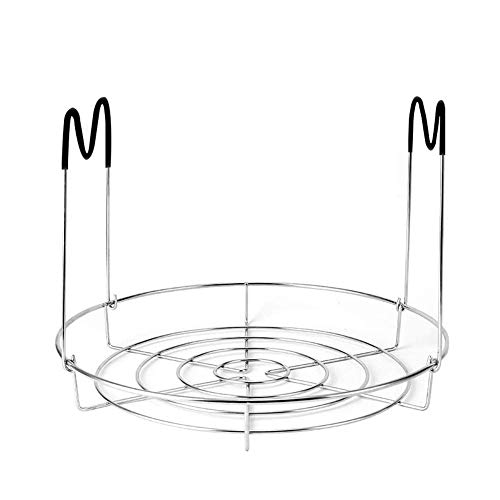courti Steamer Rack Compatible With 6 Qt 8 Quart Stainless Steel Steaming Stand, Removable Divider,Egg Steamer Rack,Stainless Steel Pot Cooking Stand