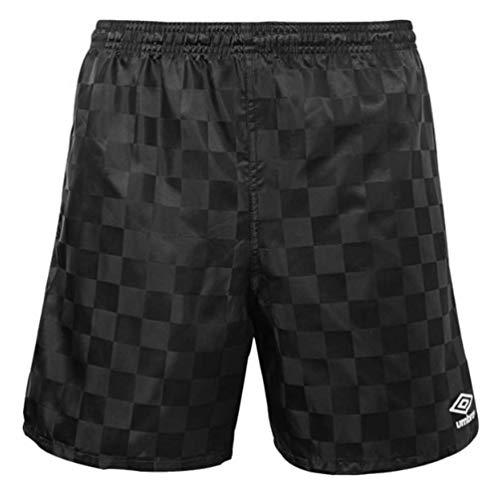 Umbro Men's Checkerboard Shorts (Medium, Black/White 1)