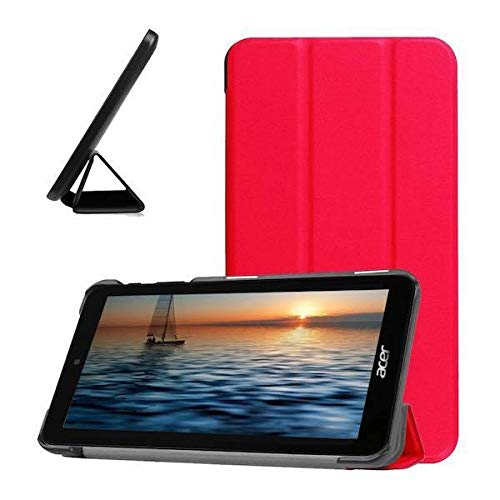 Case2go - Case for Acer Iconia One 7 B1-780 - Slim Tri-Fold Book Case - Lightweight Smart Cover - Hot Pink