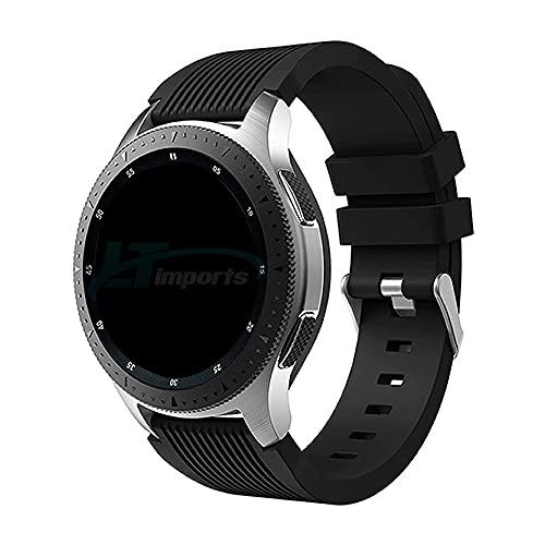 Pulseira Clássica 22mm compatível com Samsung Galaxy Watch 3 45mm - Galaxy Watch 46mm - Gear S3 Frontier - Amazfit GTR 47mm - Marca Ltimports (Preto)