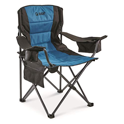 Guide Gear Oversized Camp Chair, 500-lb.Capacity, Blue/Black