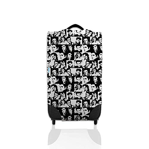 Black & White Elvis Design Suitcase Cover Easily Identify Your Case On The Carousel *Suitcase Not Included* Small