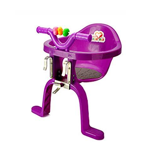 XYLUCKY Seggiolini in plastica per seggiolini per Bambini Anteriori montati sulla Bicicletta Seggiolino per Bici di Sicurezza e Confortevoli,Purple