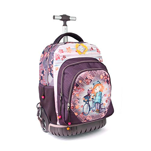 Forever Ninette, Bicycle-Sac à Dos à Roulettes Travel GTS Mochila Tipo Casual, Multicolor, 47 Centimeters