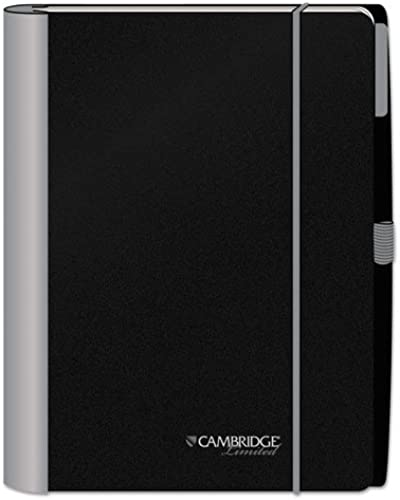 Mead Stylish Wirebound 11  Silber Accent Notebook - 100 Sheet - 20 lb - Legal Ruled - 1 Each - Weiß Paper schwarz, Silber Cover by Mead