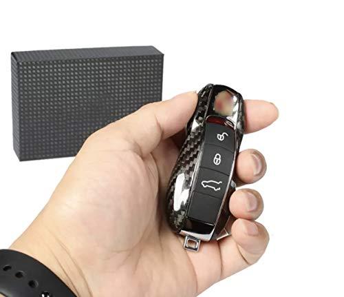 FFZ Parts Schlüssel ABS Key Cover Schlüsselhülle in Carbon Optik Passend Für Cayenne Macan Panamera 911 Cayman Boxster