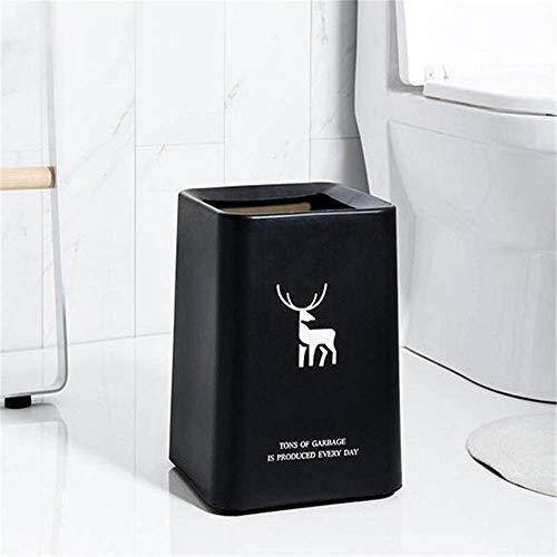 1yess Küchenmüll Can Nordic Turm-förmig Unverdeckter Mülleimer Home Zimmer Küche Bad Büro Doppelschicht Badezimmer Mülleimer Mülleimer (Farbe: A, Größe: 22,5 × 22,5 × 32 cm)