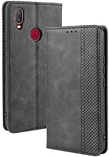 JDDRCASE PU Leather+Soft Inner Design Business Magnetic Closure Flip Wallet Protective Case Cover for Vivo Y11 (2019) (Color : Black)