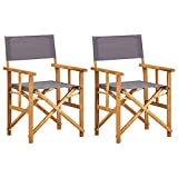 vidaXL 2X Akazienholz Massiv Regiestuhl Gartenstuhl Holzstuhl Klappstuhl Campingstuhl Stuhl Gartenmöbel Faltstuhl Sessel Regiestühle