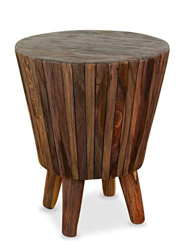 livasia Sitzhocker aus Holz, Hocker, Balkon- und Terrassenhocker, Wintergarten Möbel, aus Java (Indonesien)