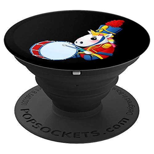 Bass Drum Unicorn Drumline Matching Percussion Marching Band PopSockets Grip and Stand for Phones and Tablets