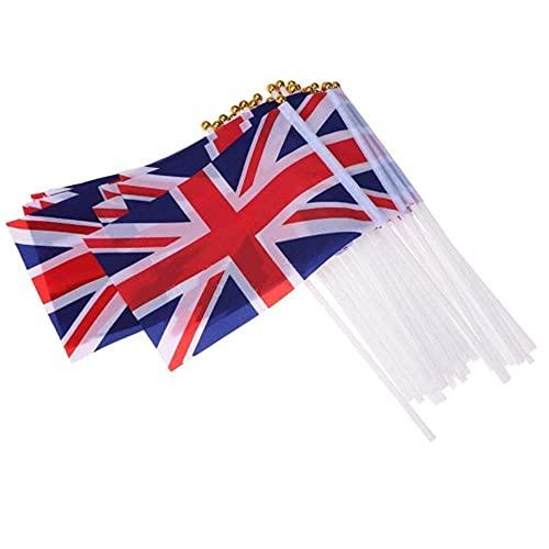 EliteKoopers Bandera de Reino Unido con diseño de bandera de Reino Unido (20 unidades)
