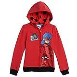 Miraculous Ladybug Toddler Girls Fleece Zip-Up Long Sleeve Hoodie Red 4T