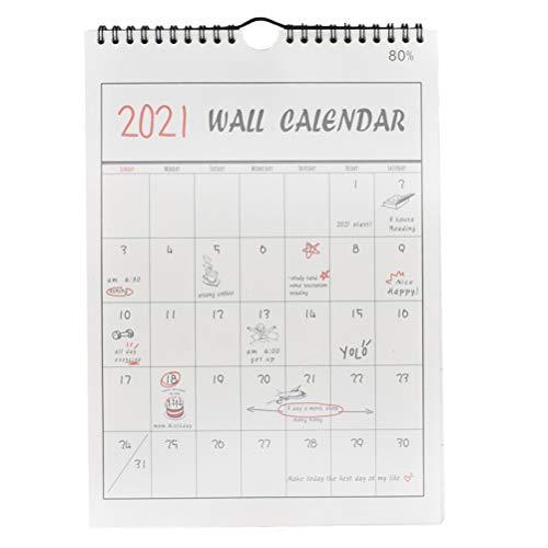 STOBOK Calendario Accademico da Parete 1Pc 2020-2021 16 Mesi Settembre 2020 - Dicembre...