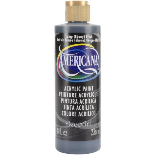 Deco Art Americana Peinture Acrylique Multi-usages, Lampe Noir ébène