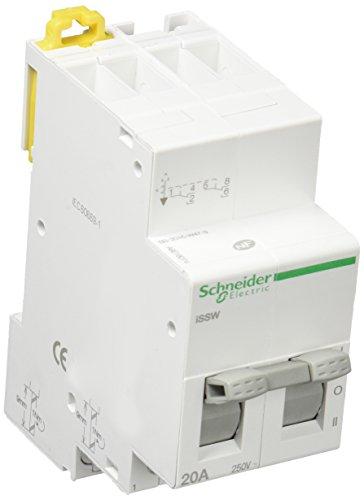 Schneider Electric A9E18074 Conmutador lineal 3 posiciones, 20 A, 230 V