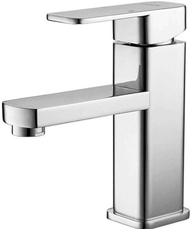 Chrome-Plated Adjustable Temperature-Sensitive Led Faucetfaucet Basin Faucets Basin Faucet Tap Mixer Finish Brass Square Pillar Designer