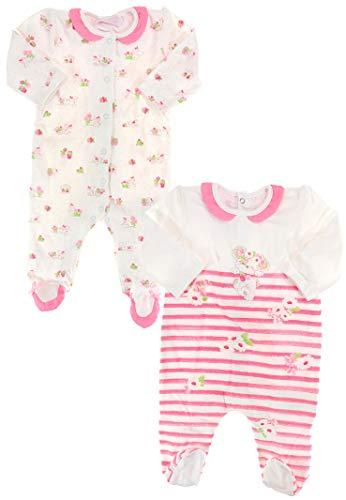 Mayoral Pijama de bebé para niña, color rosa rosa y blanco 3 mes
