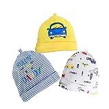 Hstyle Cappellini per Neonati,Berretto Beanie Neonato Cappello,0-6 Mesi, Confezione da 2