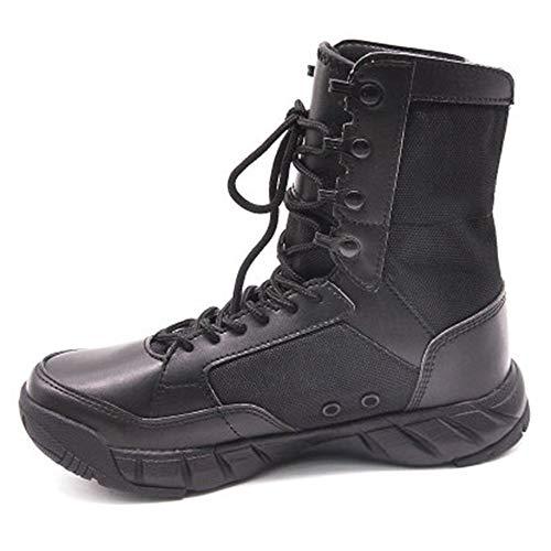 GJHYJK Lightweight Combat Boots Desert Tactical Boots Outdoor High-top Boots Lace Up Waterproof Hiking Mountaineering Shoes,Black-46