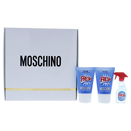 Price comparison product image Moschino Moschino Fresh Couture By Moschino for Women - 3 Pc Gift Set 5ml Edt Splash,  0.8oz Bath & Shower Gel,  0.8oz Body Lotion,  3count