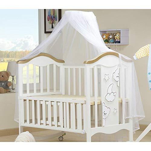 TeRIydF United Parent Bed 0-6 Ans lit bébé en Bois Massif européen Multifonctionnel Blanc lit bébé Berceau lit à Deux Couches pour Enfants