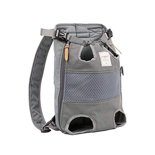 DuoLmi Pet Carrier Backpack, Legs Out Front-Facing Adjustable Pet Carrier Backpack for Small Medium Large Dogs, Airline Approved Hands-Free Cat Travel Bag for Walking Hiking Bike, Grey