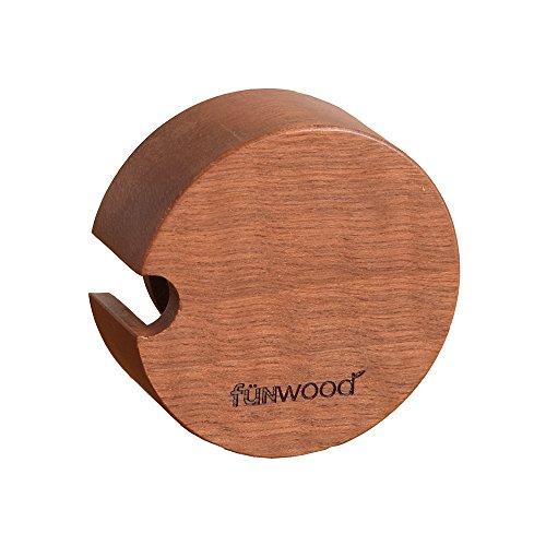 funwood(ファンウッド) マスキングテープホルダー マスキングテープケース 木製 天然木 角型 丸型 メープル サペリ mtホルダー おしゃれ文具 ナチュラル ウッド (サペリ・丸形)