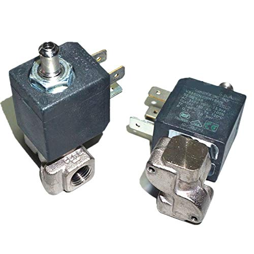 """KHBD Magnetventil in der Regel offen 220V / 50Hz G1 / 8 """"18 Bar Kaffeemaschine Magnetventil eignet Sich for/Wasser/Gas/Hochtemperatur- / Hochdruck haltbar (Size : 1)"""