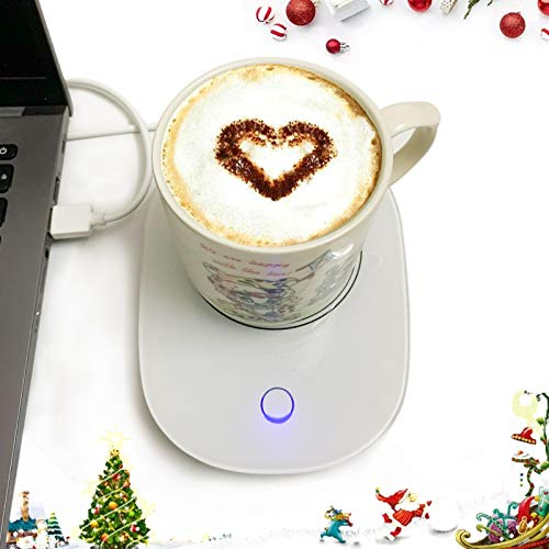 Coffee Cup Warmers USB for Desk with Auto Shut Off, USB Coffee Mug Warmer for Desk Office Home…