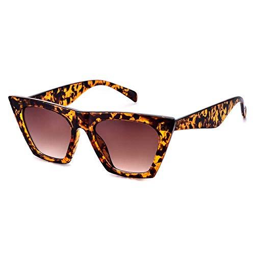 Mosanana Small Retro Vintage Square Cateye Sunglasses for Women