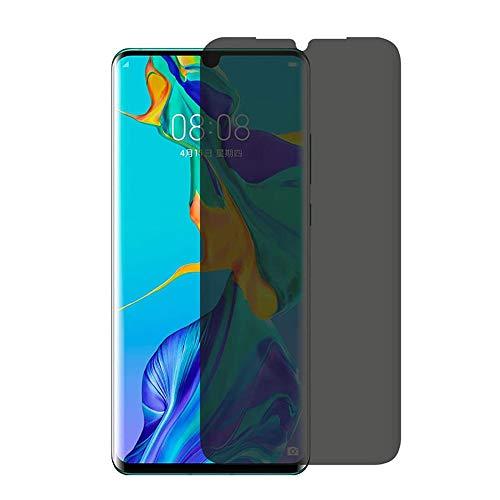KABIOU Protector de pantalla de privacidad de vidrio templado para Huawei P40 P30 P20 Pro Lite E 5G P10 Plus Anti Spy Peep Protector de pantalla de cobertura completa - Huawei P40 Pro+