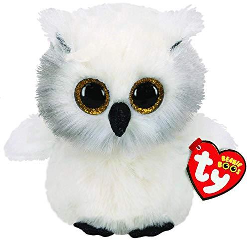 Ty 36305 Owl Plush Toy, White
