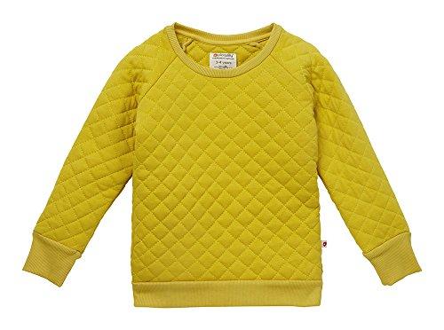 Piccalilly Bio-Baumwolle Gelb gesteppes Sweatshirt