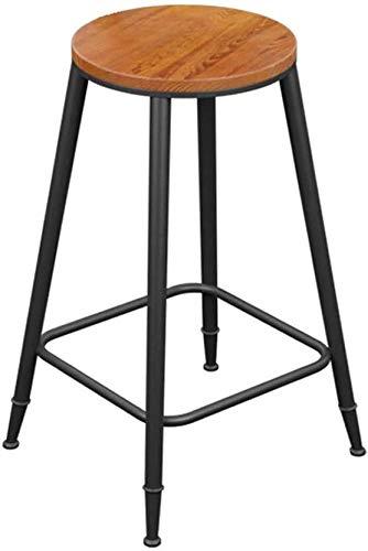 Petit déje barkruk, hoogte bar, barkruk, rond, metaal, hoge stoel, kussen van leer, voor thuis en in de winkel, van smeedijzer, barkruk, hout, voor keukens