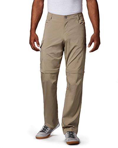 Columbia Silver Ridge Pantalon Convertible Extensible pour Homme, Homme, 166349, Ivoire, 44W / 32L