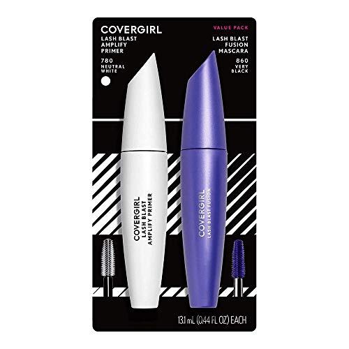 COVERGIRL Lash Blast Fusion Mascara & COVERGIRL Lash Blast Amplify Eyelash Primer Pack , VERY BLACK