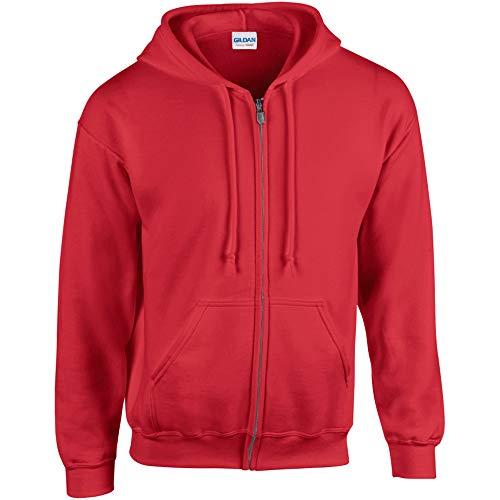 Gildan Heavy Blend Chaqueta con capucha rojo L